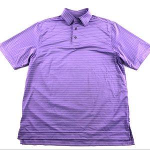FootJoy Striped Polo Golf Shirt Collared medium